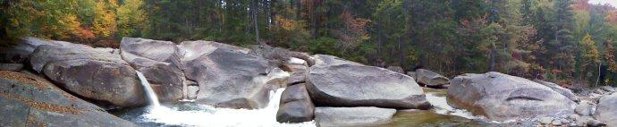 Franconia Falls in Late September